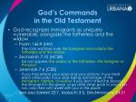 god s commands in the old testament3