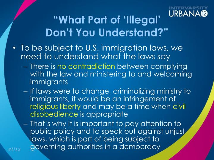 """""""What Part of 'Illegal'"""