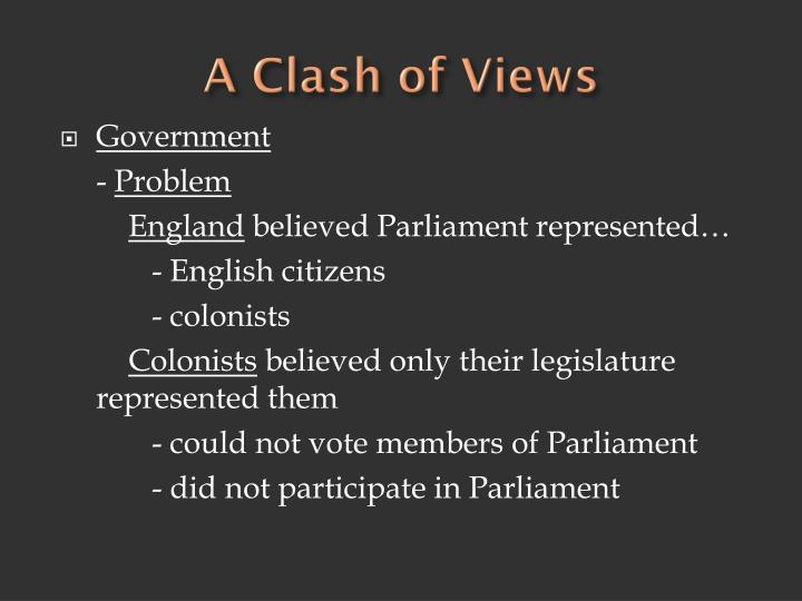 A Clash of Views
