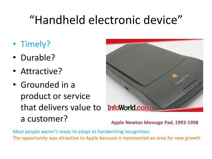 """Handheld electronic device"""