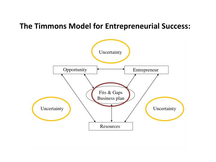 The Timmons Model for Entrepreneurial Success: