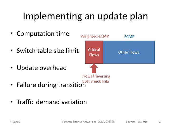 Implementing an update plan