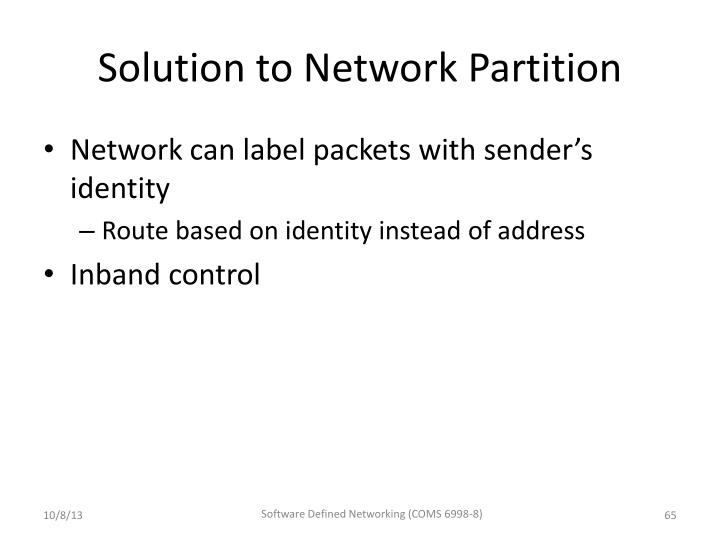Solution to Network