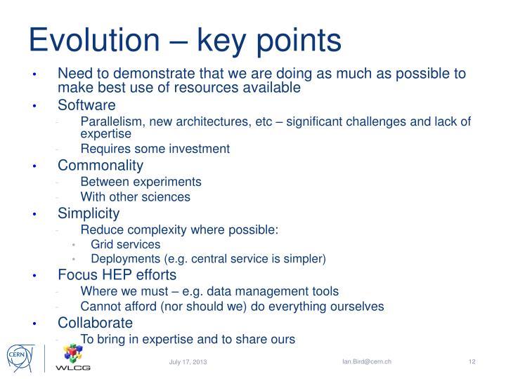 Evolution – key points