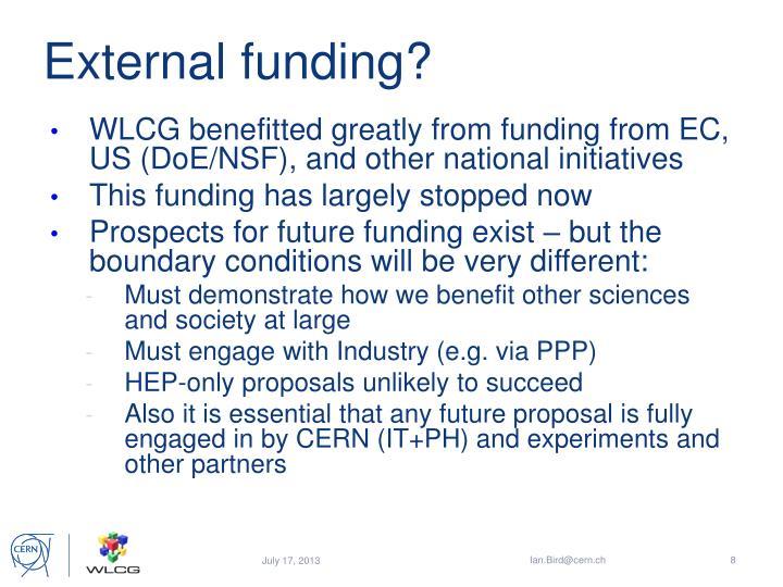 External funding?