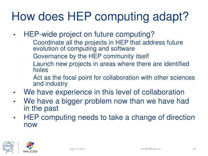 How does HEP computing adapt?