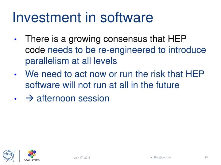 Investment in software
