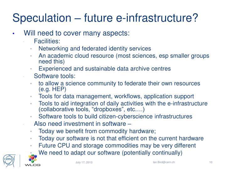 Speculation – future e-infrastructure?