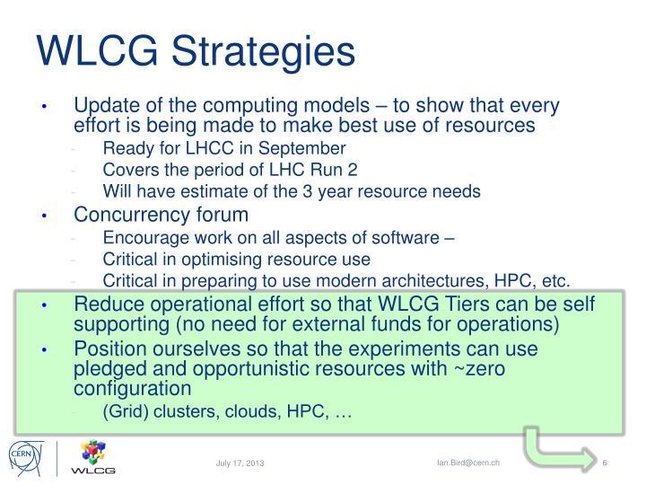 WLCG Strategies