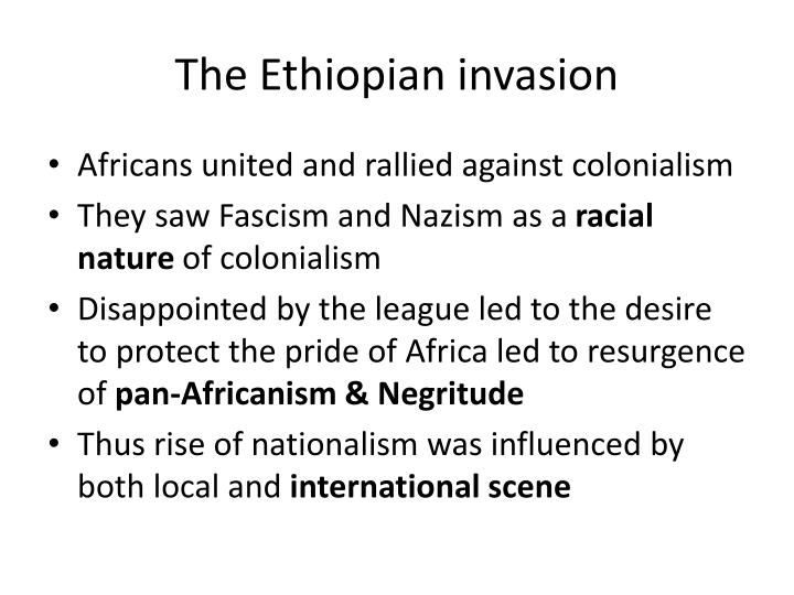The ethiopian invasion