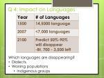 q 4 impact on languages