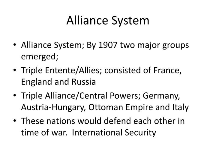 Alliance System