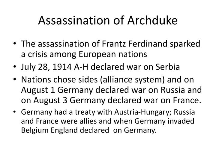 Assassination of Archduke
