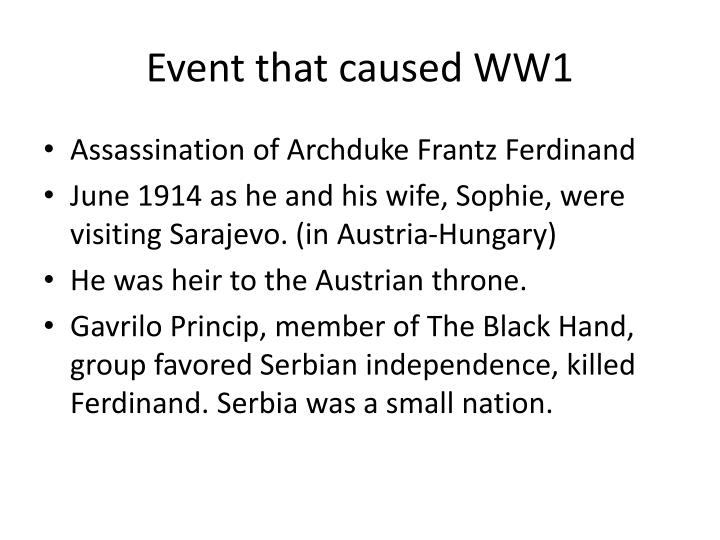 Event that caused WW1