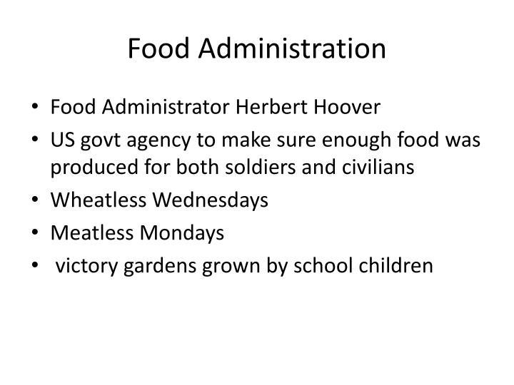 Food Administration