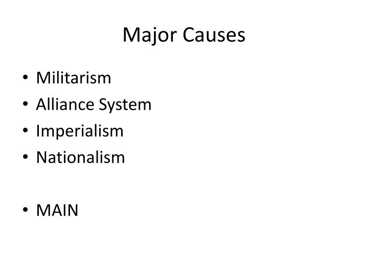 Major Causes