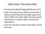 usa enters the great war