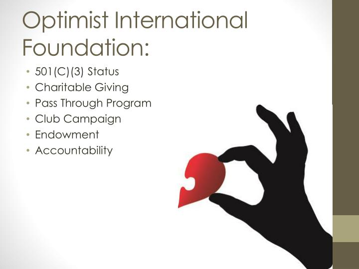 Optimist International Foundation:
