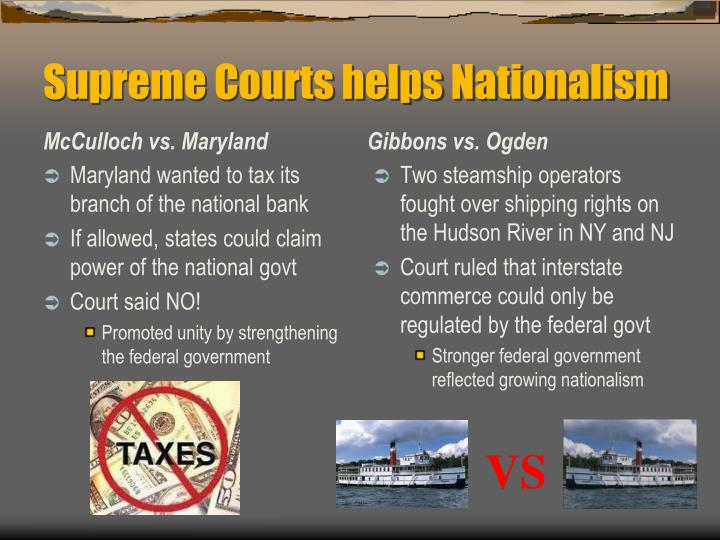 Supreme Courts helps Nationalism