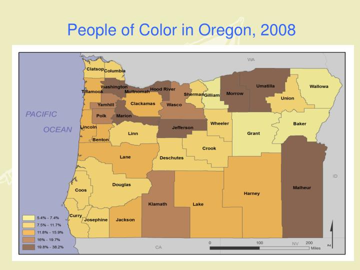 People of Color in Oregon, 2008