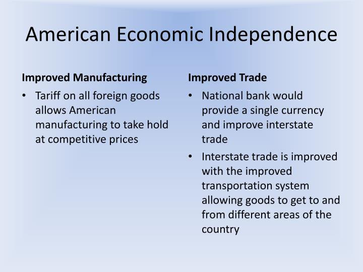 American Economic Independence