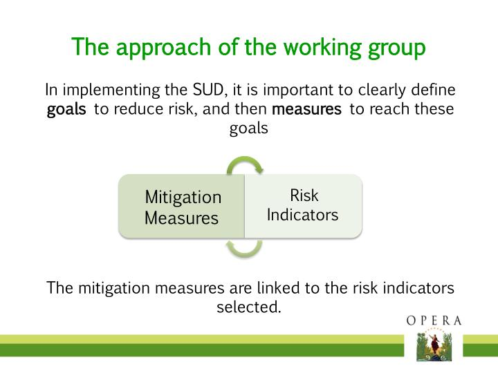 The approach of the working group