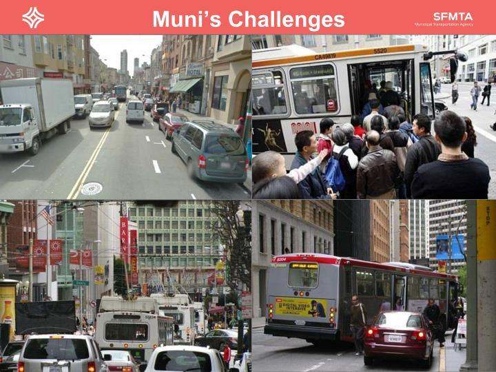 Muni's Challenges