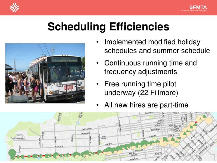 Scheduling Efficiencies
