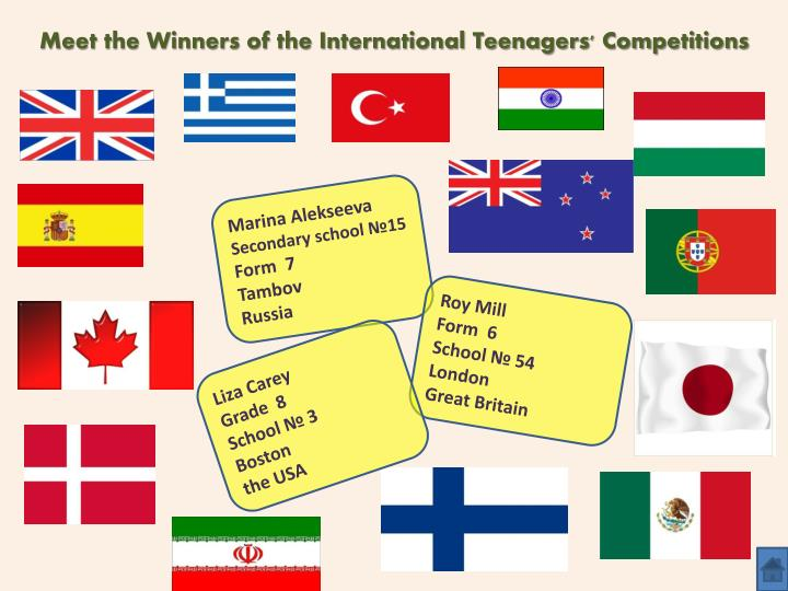 Meet the Winners of the International Teenagers' Competitions