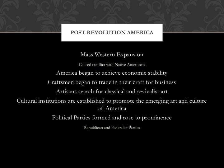 Post-Revolution America