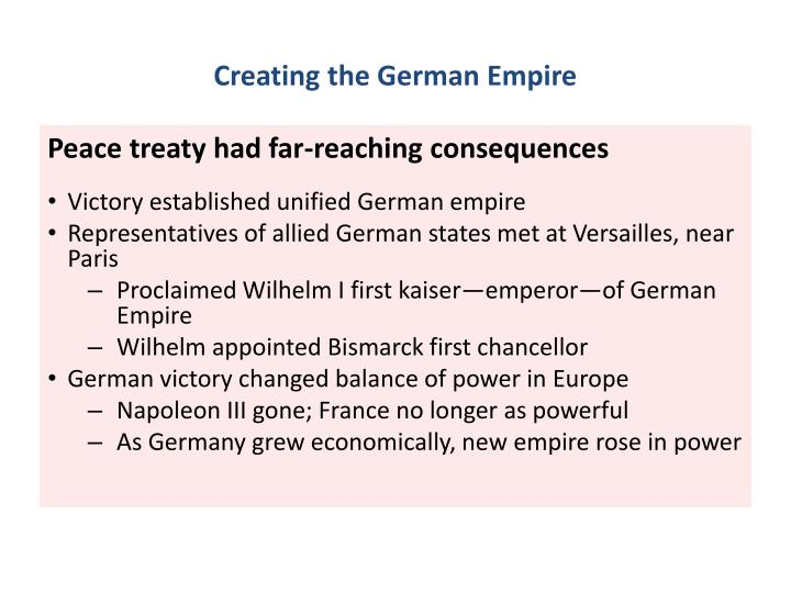 Creating the German Empire