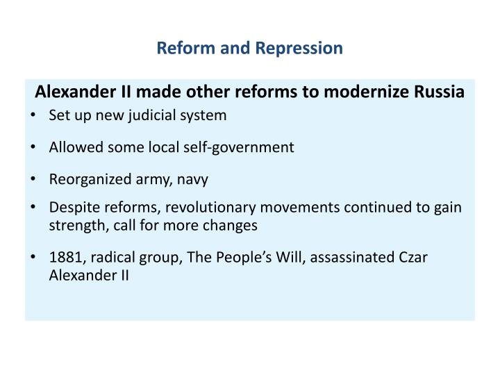 Reform and Repression