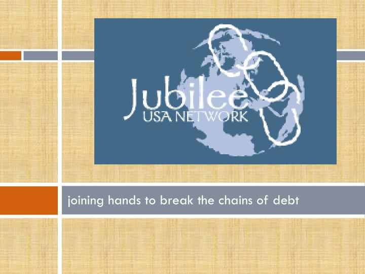 joining hands to break the chains of debt