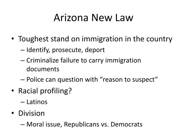 Arizona new law