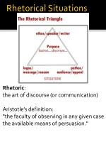 rhetorical situations