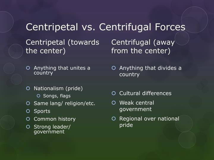 Centripetal vs. Centrifugal Forces