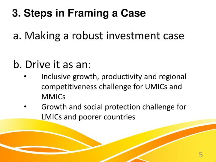 a. Making a robust investment case