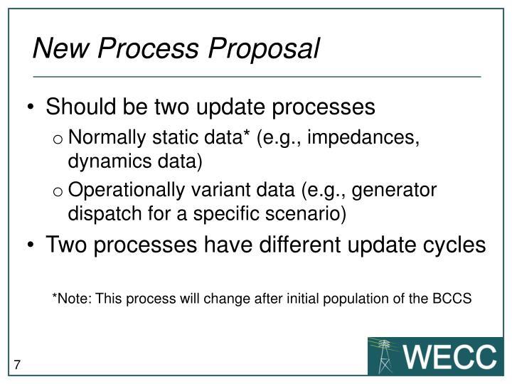 New Process Proposal