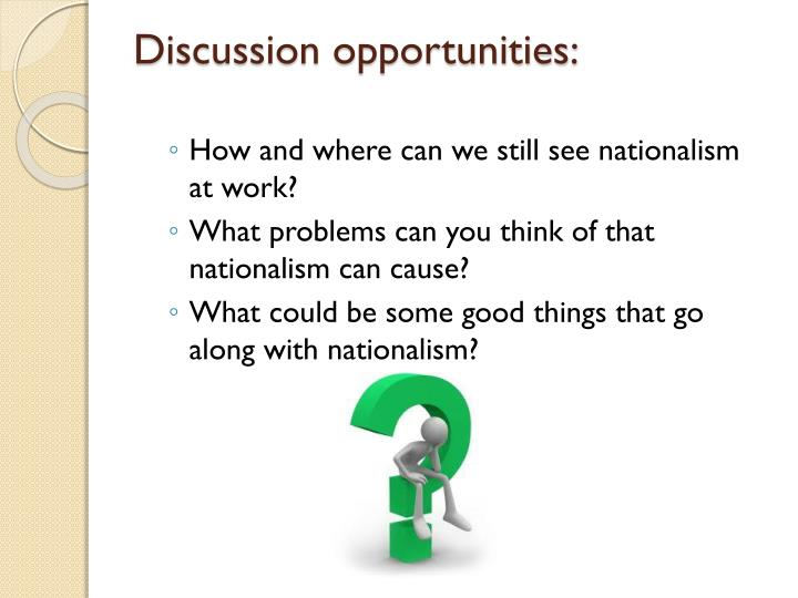 Discussion opportunities: