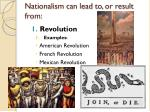 nationalism can lead to or result from