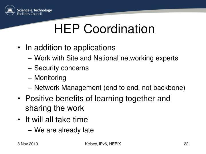 HEP Coordination