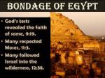 bondage of egypt