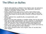 the effect on bullies