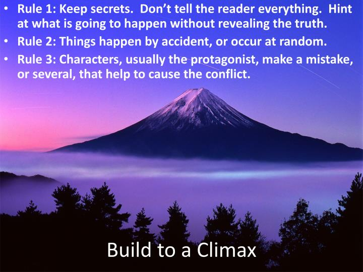 Build to a Climax