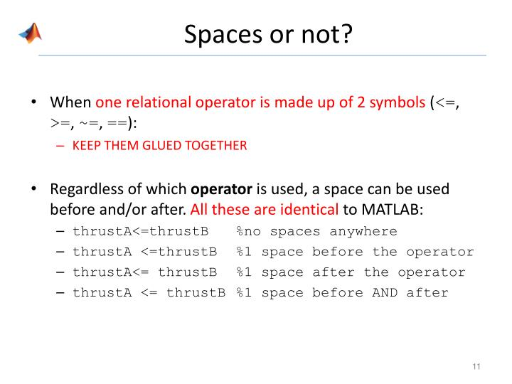 Spaces or not?