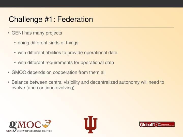 Challenge #1: Federation