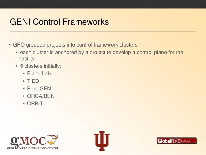 GENI Control Frameworks