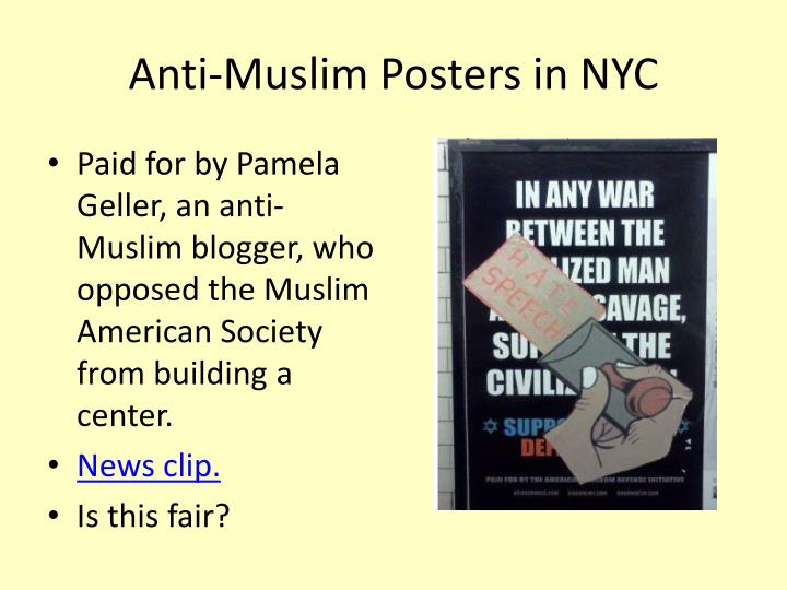 Anti-Muslim Posters in NYC