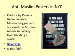 anti muslim posters in nyc