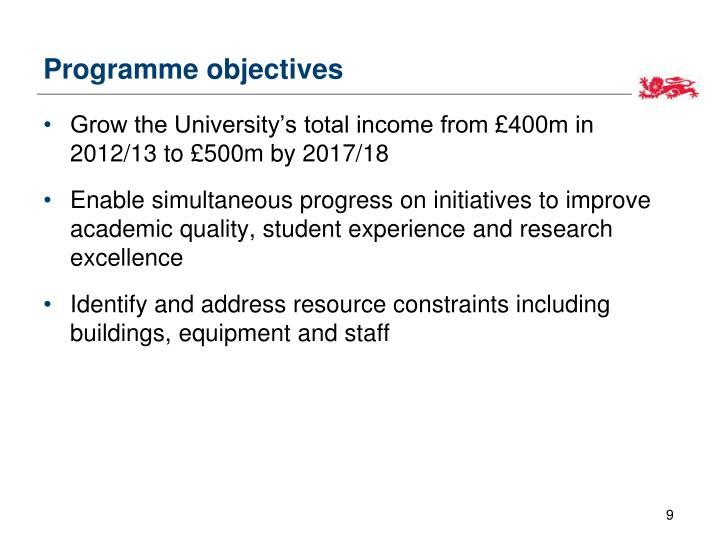 Programme objectives